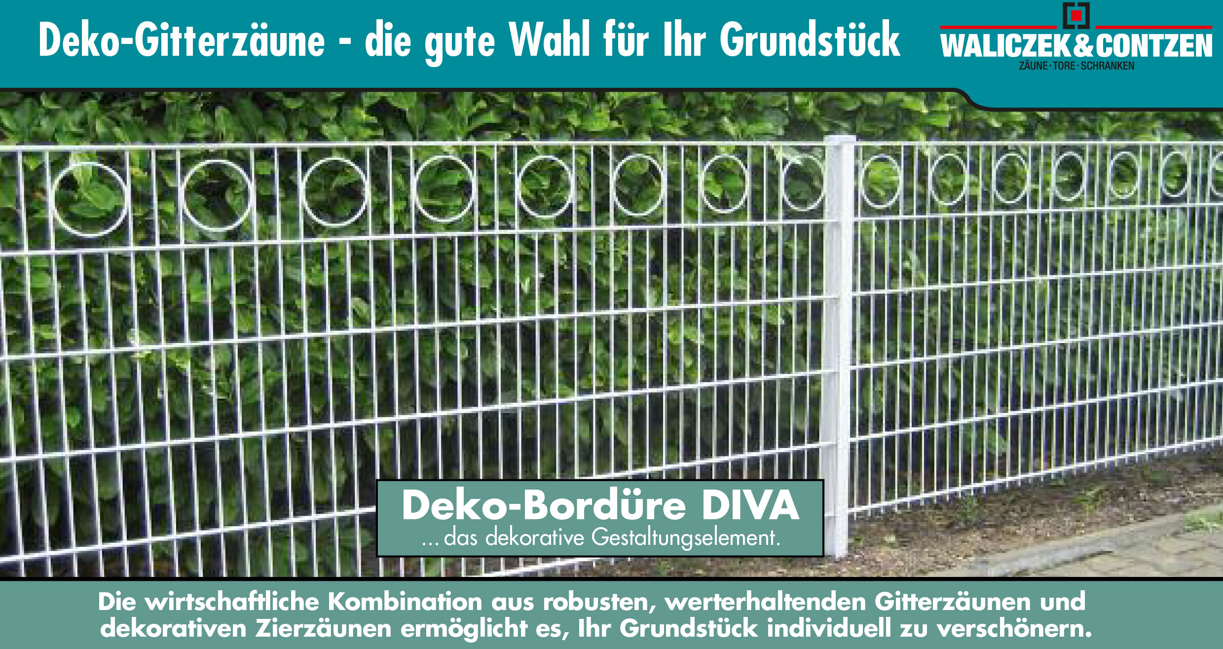 Deko-Gitterzäune