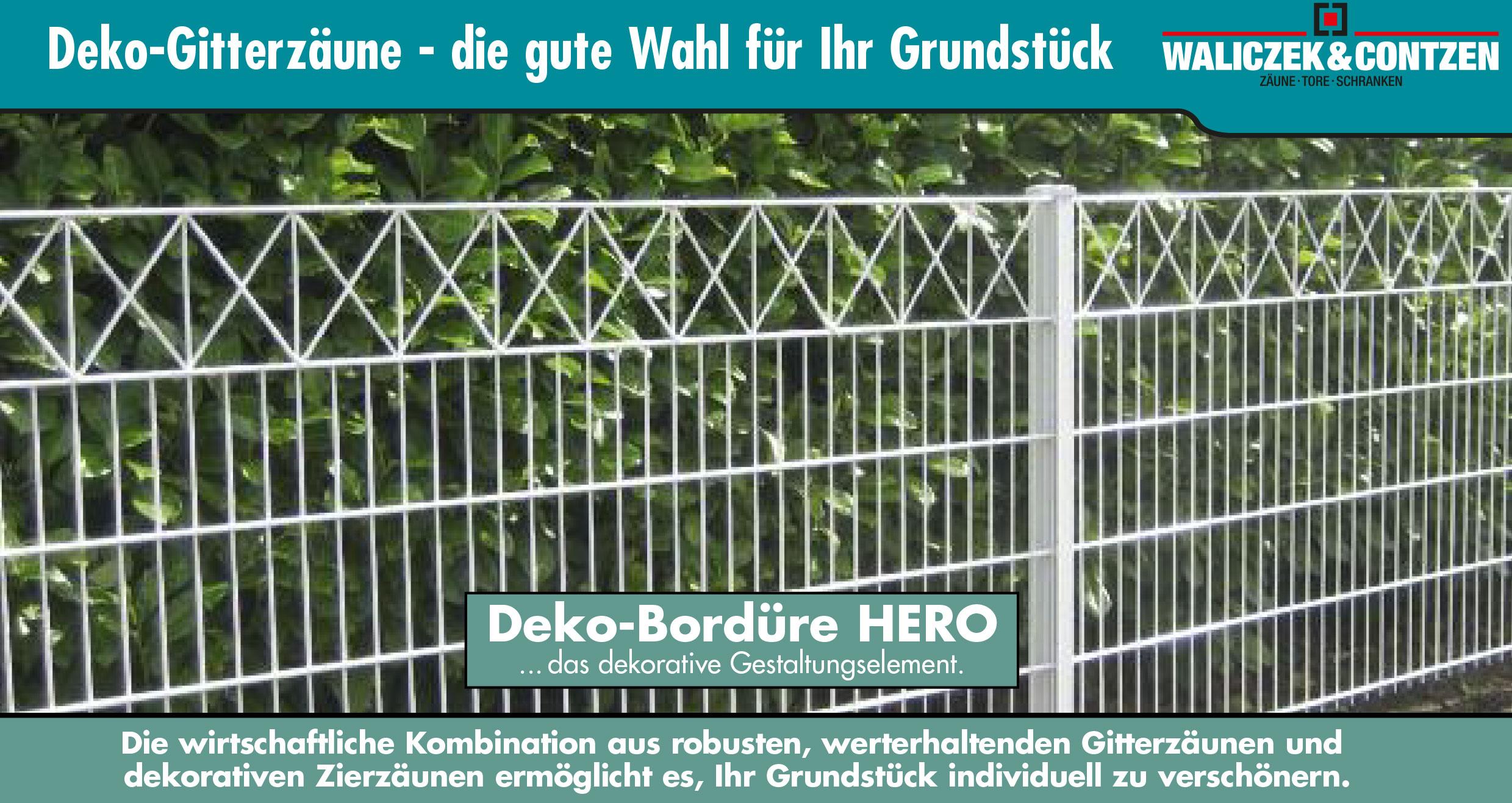 Deko-Gitterzäune – Waliczek & Contzen GmbH